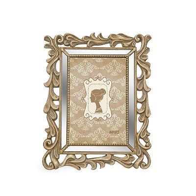 Porta Retrato de Resina Espelhado Champagne 10x15