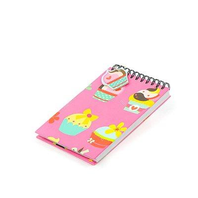 Caderno de Notas Wire-O Cupcake