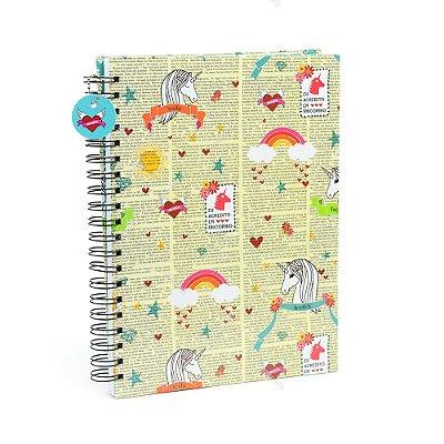 Caderno Universitário Unicórnios Unika