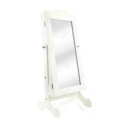 Espelho de Mesa Porta Jóias Grande Branco