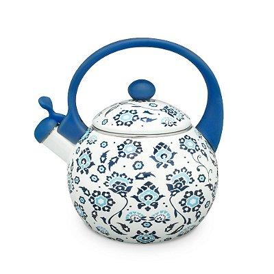 Chaleira Azulejos Portugueses Azul em Aço