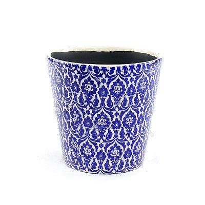 Cachepô de Cerâmica Grande Marroquino Azul