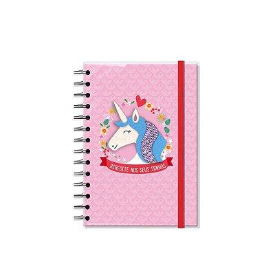 Caderno Médio Decorado com Aplique Unicórnio