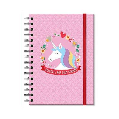 Caderno Universitário Unicórnio 100 folhas