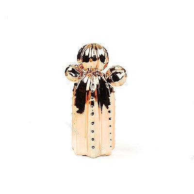 Cacto em Cerâmica Cobre Orelha de Urso Pequeno