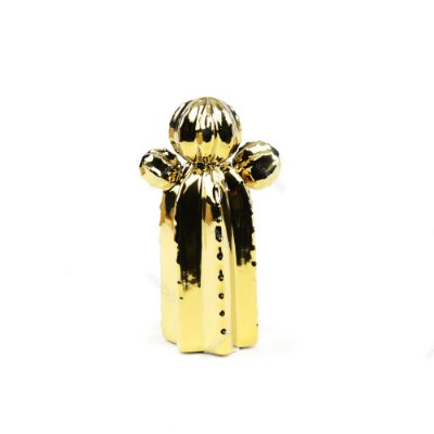 Cacto em Cerâmica Dourado Orelha de Urso Pequeno