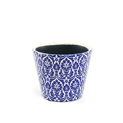 Cachepô de Cerâmica Pequeno Marroquino Azul