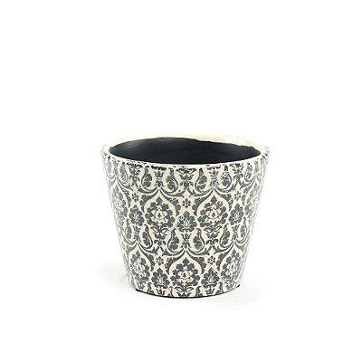 Cachepô de Cerâmica Pequeno Marroquino Preto