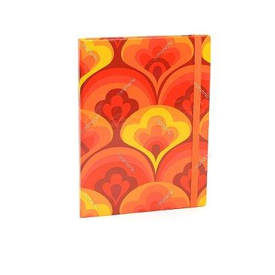 Caderno Médio Capa Dura com Elástico Tulipa