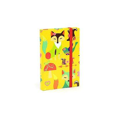 Caderninho Capa Dura com Elástico Foxy Lady