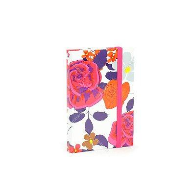 Caderninho Capa Dura com Elástico Floral Color
