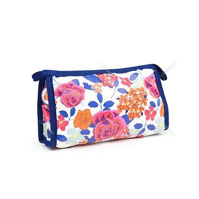 Necessaire de Bolsa com Zíper Floral Color