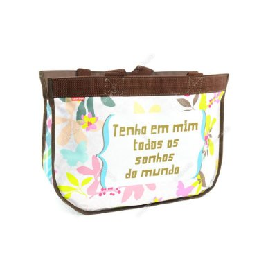 Super Eco Bag Floral Borboleta