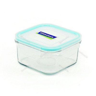 Pote de Vidro Refratário Hermético Quadrado 490 ml