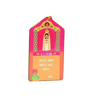 Plaquinha Tag Nossa Senhora de Fátima