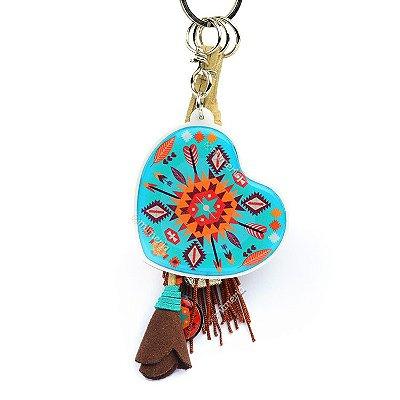 Chaveiro Coração Tribal Amiga