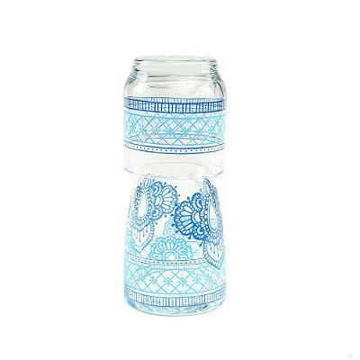 Moringa de Vidro Marrocos Azul 500 ml