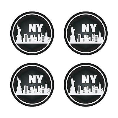 Porta Copo Silicone Magnético New York 4 peças