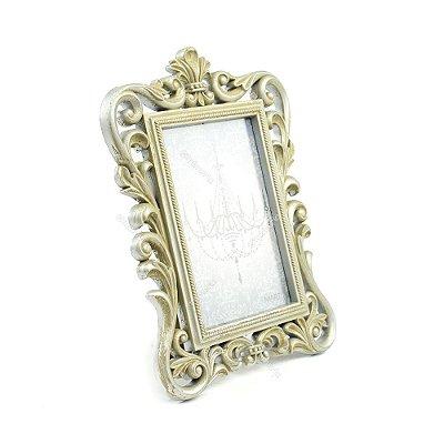 Porta Retrato Imperial Envelhecido Prata 10x15