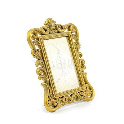 Porta Retrato Imperial Envelhecido Dourado 10x15