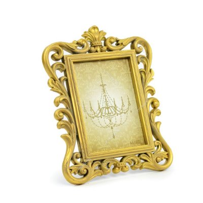 Porta Retrato Imperial Envelhecido Dourado 13x18
