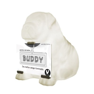 Luminária Porta Retrato Cachorro Buddy Branco