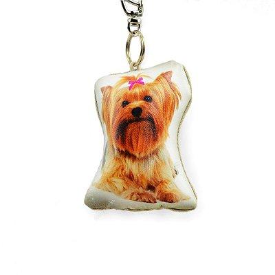 Chaveiro Cachorro Yorkshire Laço Rosa