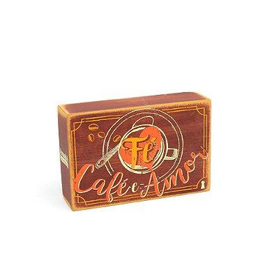 Quadro Box Fé Café Amor 10x15