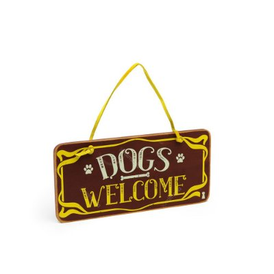 Placa de Porta Dogs Welcome