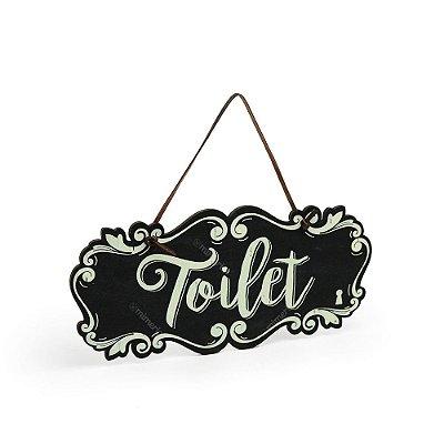 Placa de Porta Toilet