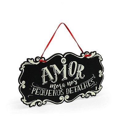 Placa de Porta Amor Mora