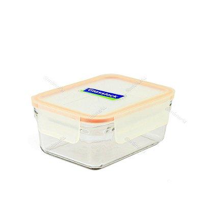 Pote de Vidro Refratário Hermético Retangular 1020 ml