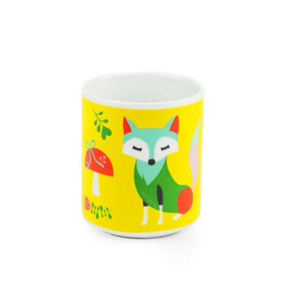 Caneca Decorada Raposas Foxy Lady