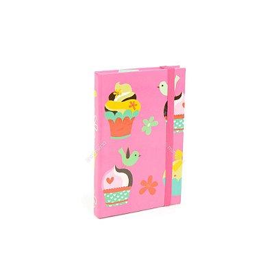 Caderninho Capa Dura com Elástico Cupcake