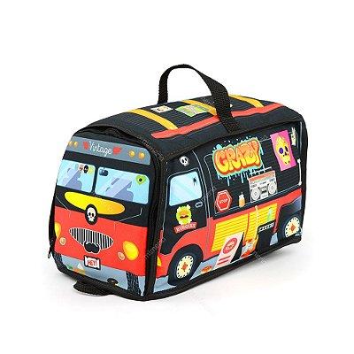 Mochila para Brinquedo Food Truck Preta