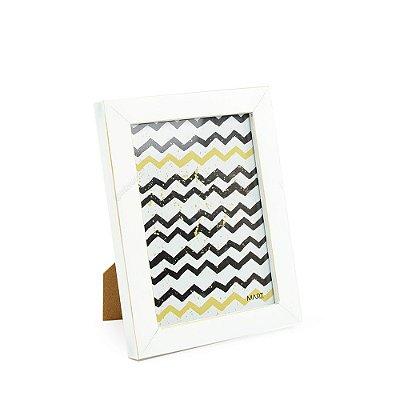 Porta Retrato em Madeira Branco 13x18