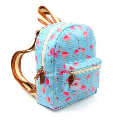 Mini Mochila Estampada Flamingo