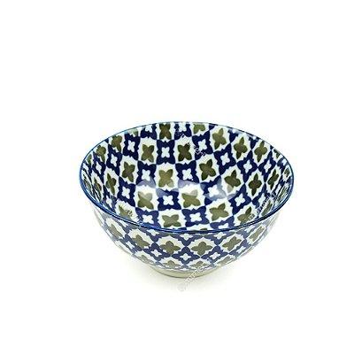 Bowl de Cerâmica Pequeno Marroquino Azul e Cinza
