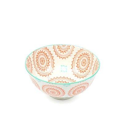 Bowl de Cerâmica Pequeno Mandala Coral