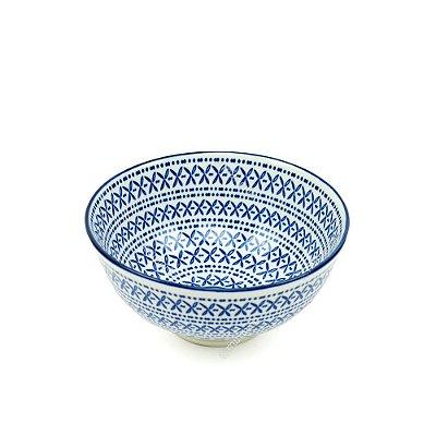 Bowl de Cerâmica Pequeno Indiano Azul