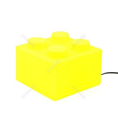 Luminária Bloco de Montar Amarelo