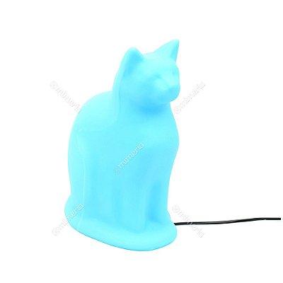 Luminária Gato Sentado Azul