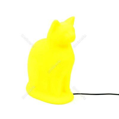 Luminária Gato Sentado Amarelo