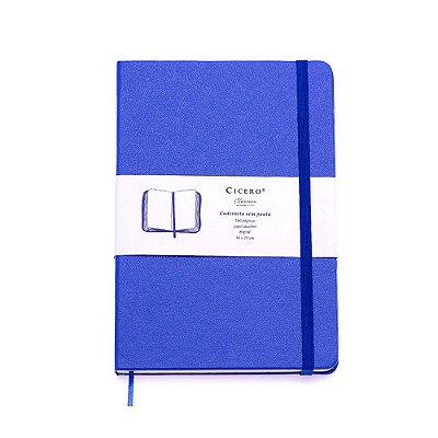 Caderneta sem Pauta Azul Royal Média