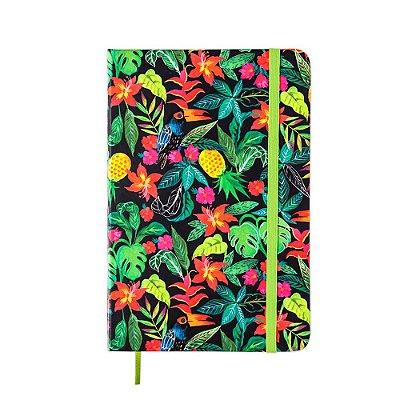 Caderneta sem Pauta Floral Hype Verde Média