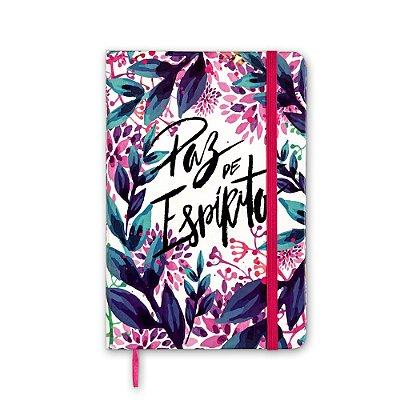 Caderneta sem Pauta Floral Paz de Espírito Média