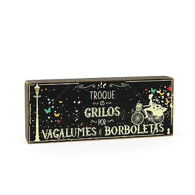 Quadro Box Borboletas Pequeno 12x30