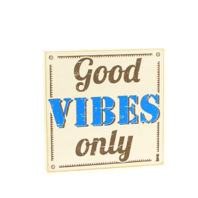 Quadro Box Good Vibes Only 25x25
