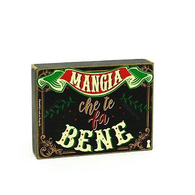 Quadro Box Mangia Bene 15x20