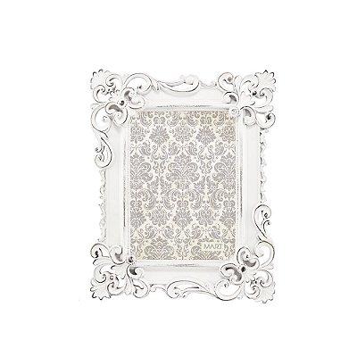 Porta Retrato de Resina Clássico Branco 13X18
